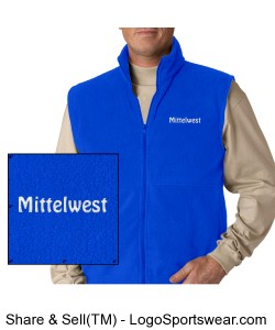 Adult Fleece Vest, Sizes to 6XL Design Zoom